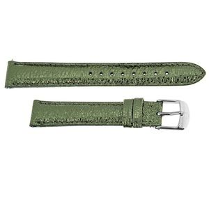 NWT Michele 16 Leather Metallic Green Watch Band